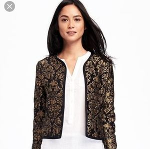 Old Navy Jacquard Gold Jacket Size Small